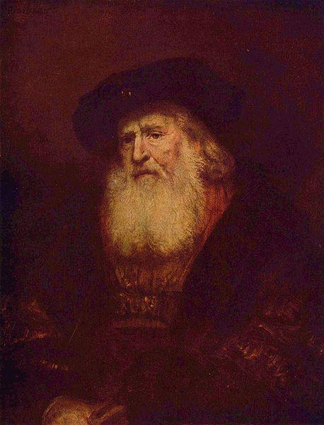 REMBRANDT Harmenszoon van Rijn Portrait of a Bearded Man oil painting image