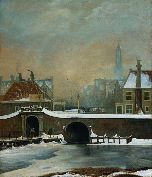 Wouter Johannes van Troostwijk The Raamgate at Amsterdam oil painting image