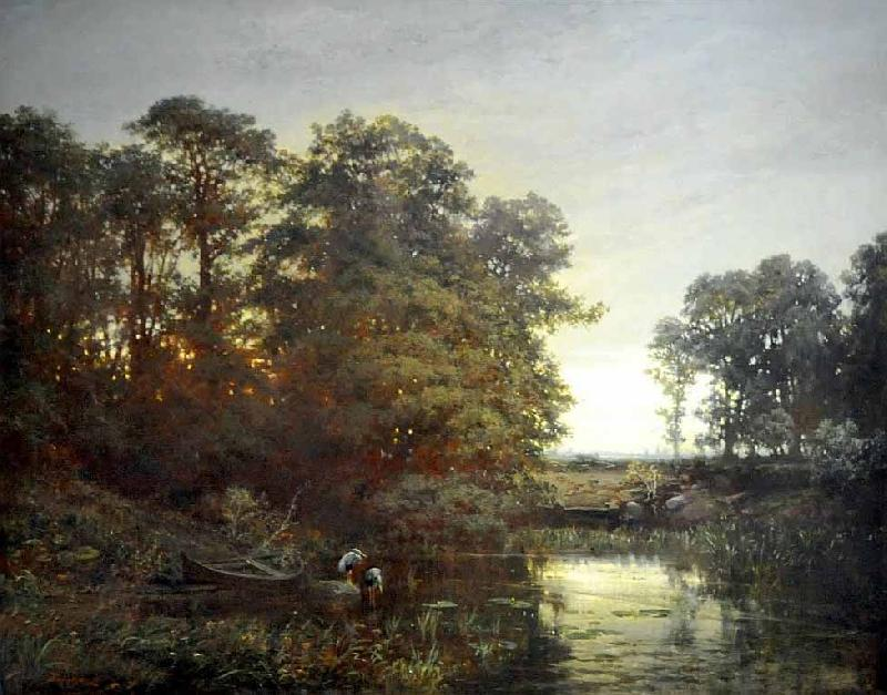 Charles Francois Daubigny Landscape with a pond