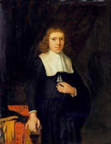 Jacobus Vrel Portrait of a gentleman oil painting image