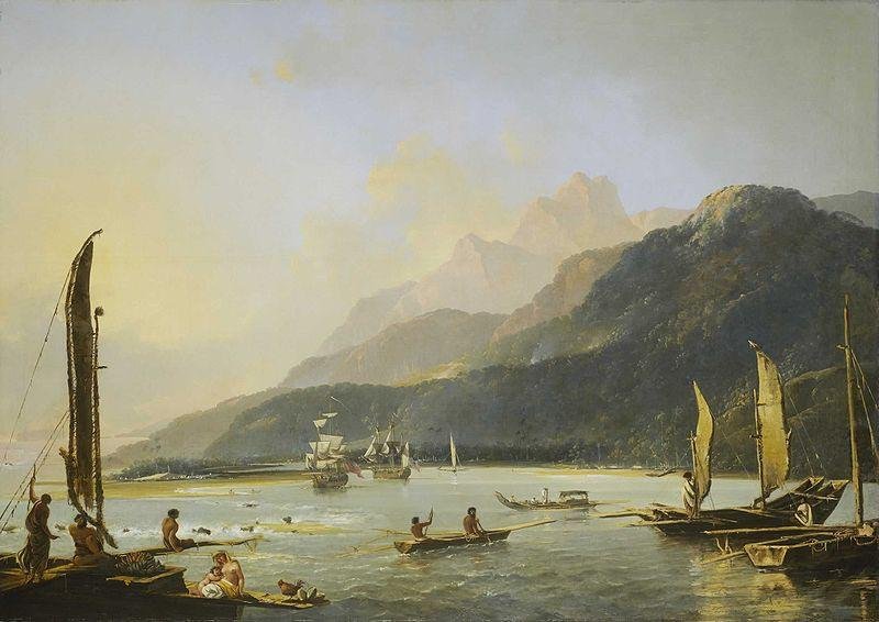 William Hodges Hodges' painting of HMS Resolution and HMS Adventure in Matavai Bay, Tahiti