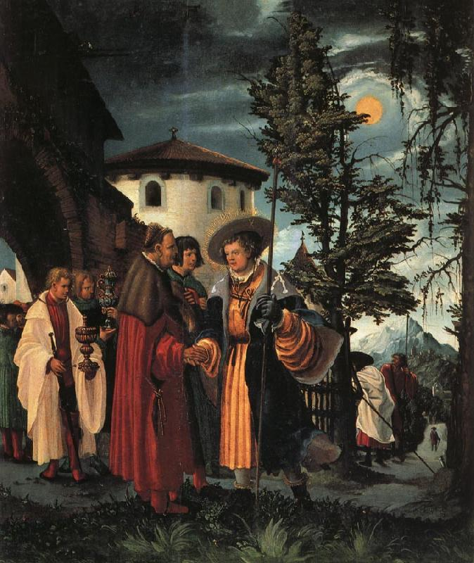 Albrecht Altdorfer The Departure of St.Florian oil painting image