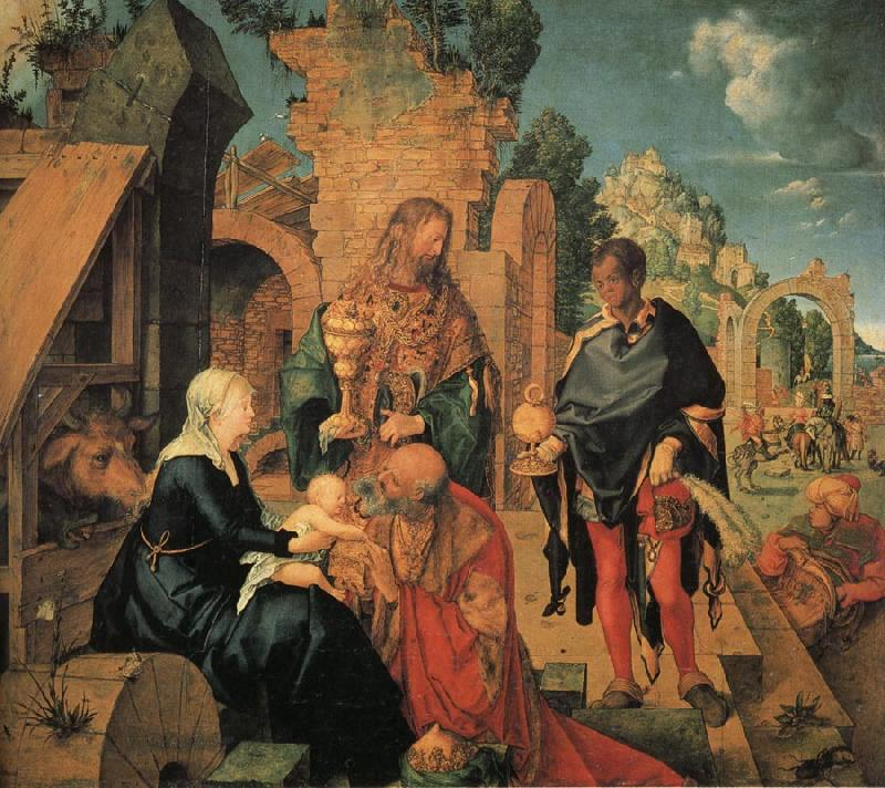 Albrecht Durer The Adoration of the Magi oil painting image