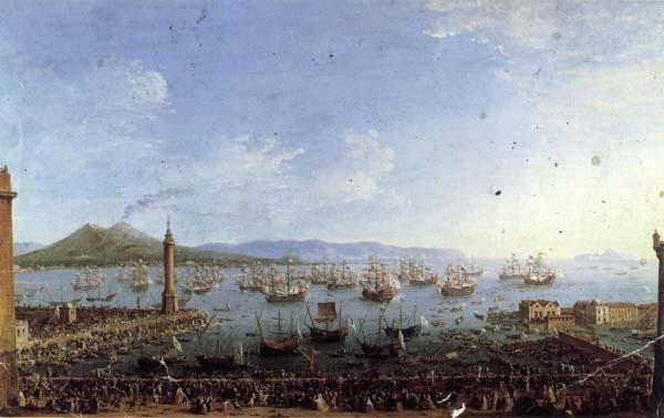 Antonio Joli The Embarkation of Charles III in the Port of Naples oil painting image