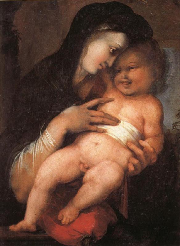 BERRUGUETE, Alonso Madonna and Child oil painting image