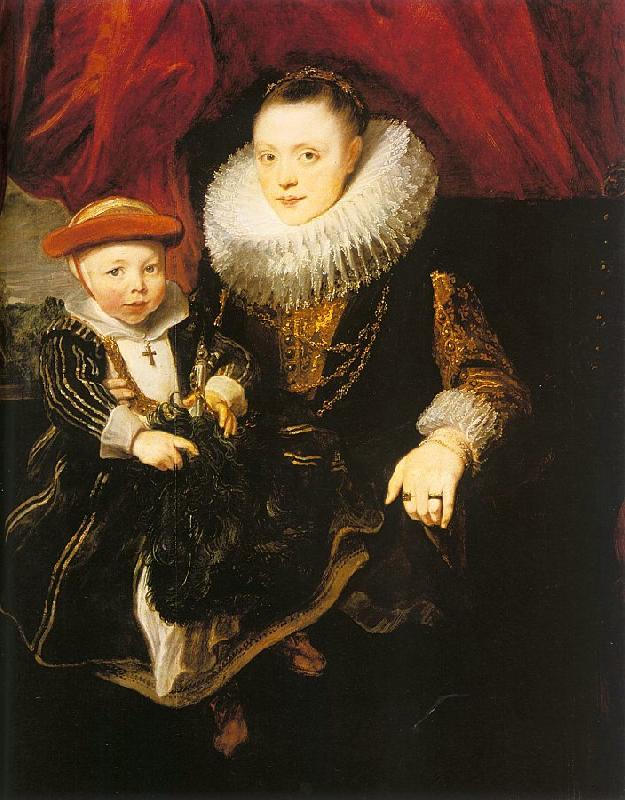 Dyck, Anthony van Young Woman with a Child oil painting image