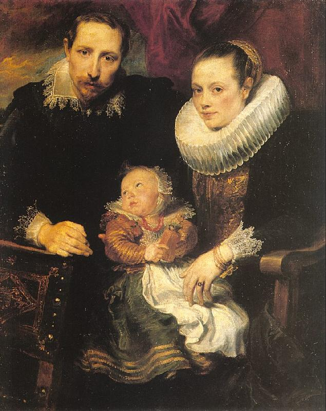 Dyck, Anthony van Family Portrait oil painting image