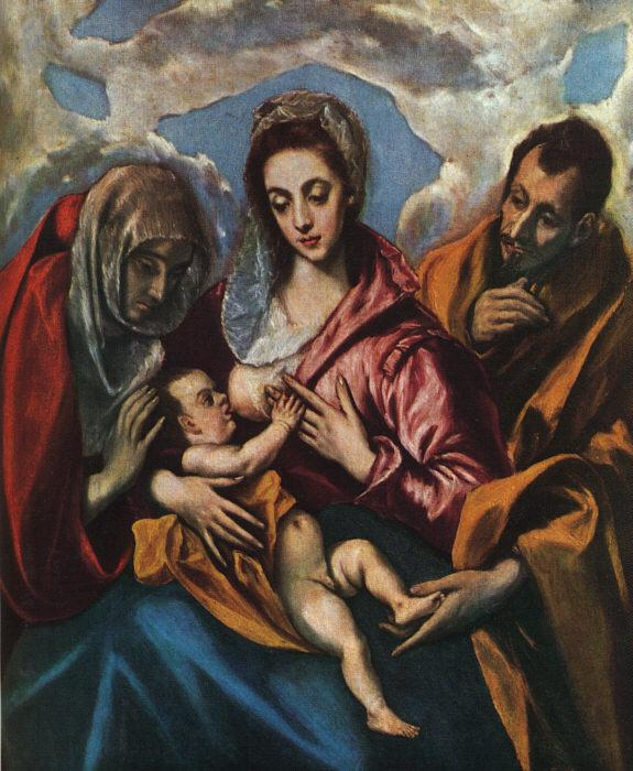 El Greco Holy Family oil painting image