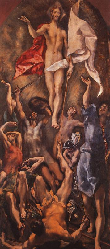 El Greco Resurrection oil painting image