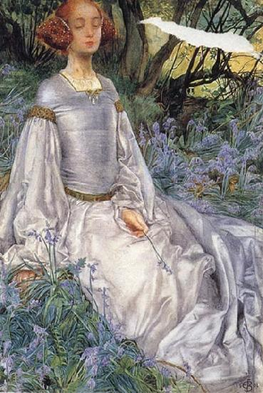 Eleanor Fortescue-Brickdale,RWS In the Springtime oil painting image