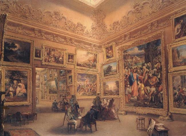Frederick Mackenzie The National Gallery when at Mr J.J Angerstein's House,Pall Mall oil painting image