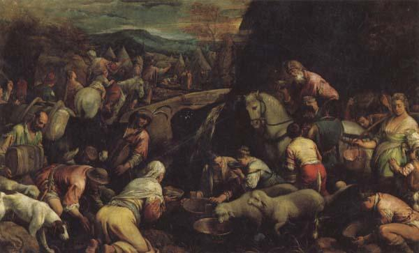 Jacopo Bassano The Israelites Drinkintg the Miraculous Water oil painting image