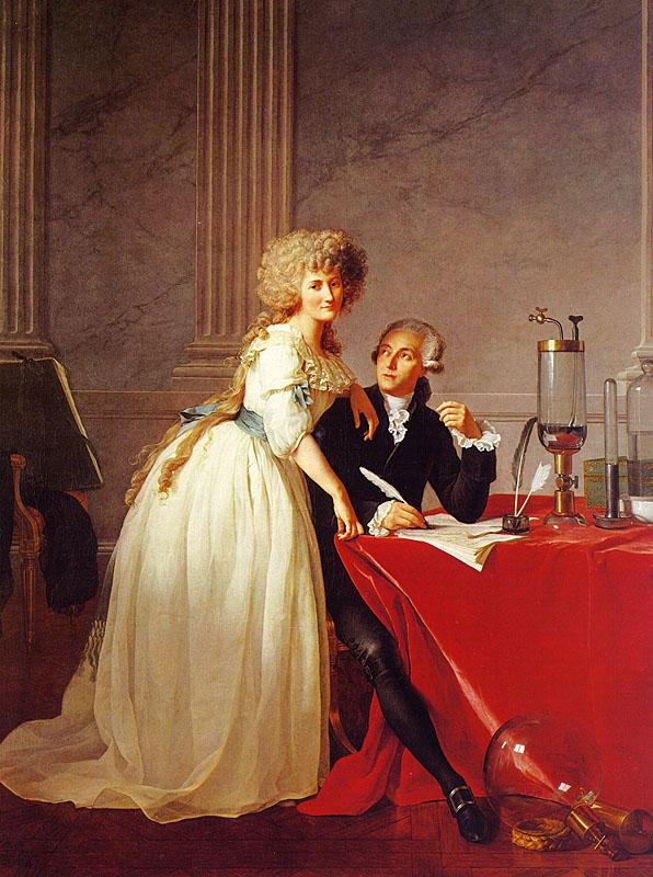 Jacques-Louis David Portrait of Monsieur Lavoisier and His Wife oil painting image