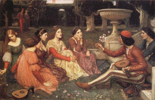 John William Waterhouse A  Tale from the Decameron oil painting image