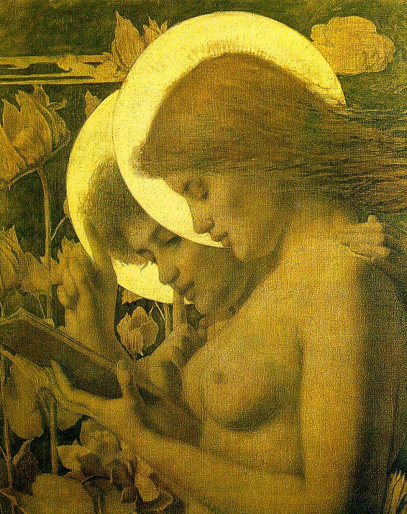 Louis Welden Hawkins The Haloes oil painting image