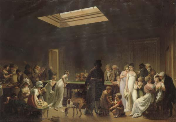 Louis-Leopold Boilly A Game of Billiards oil painting image