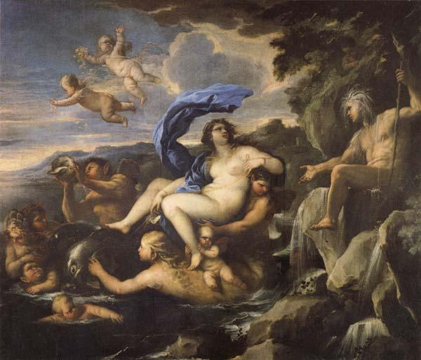 Luca Giordano he Triumph of Galatea,with Acis Transformed into a Spring oil painting image
