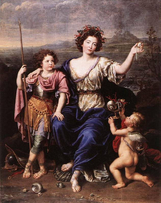 MIGNARD, Pierre The Marquise de Seignelay and Two of her Children