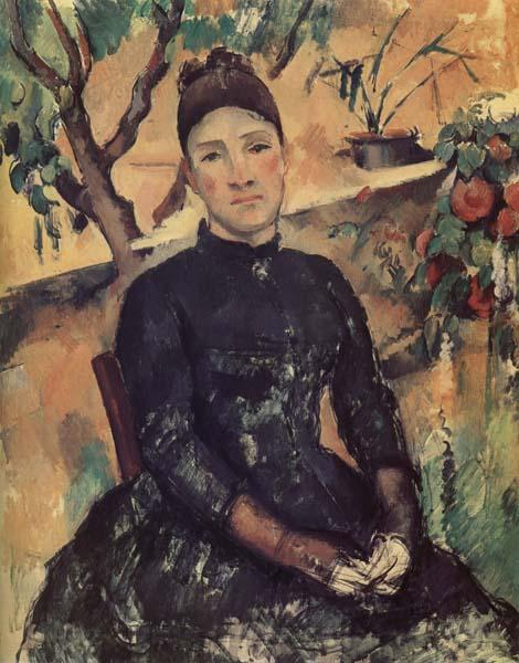 Paul Cezanne Madame Cezanne in the Conservatory
