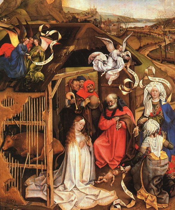 Robert Campin The Nativity oil painting image