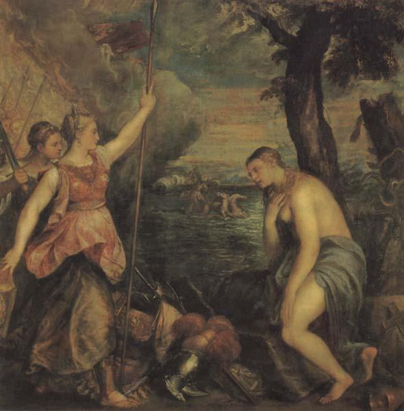 Titian Religion Supported by Spain oil painting image