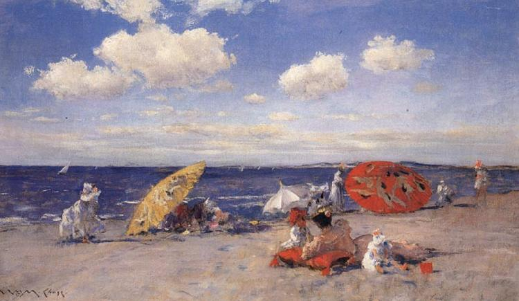 William Merrit Chase At the Seaside oil painting image