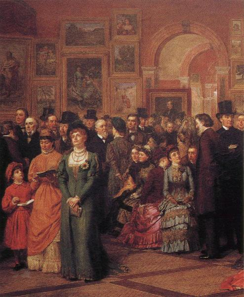 William Powell Frith The Private View of the Royal Academy oil painting image