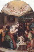 unknow artist THe adoration of  the shepherds oil painting image