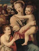 unknow artist The Madonna and child with the infant saint john the baptist oil painting image