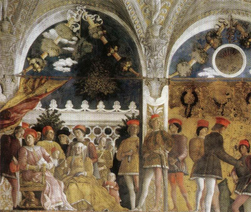 Andrea Mantegna Family and Court of Ludovico Gonzaga oil painting image