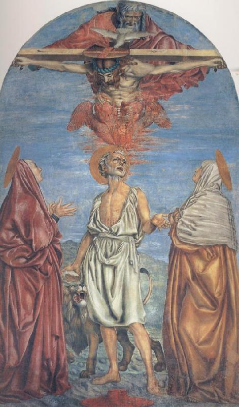 Andrea del Castagno The Trininty with Saints
