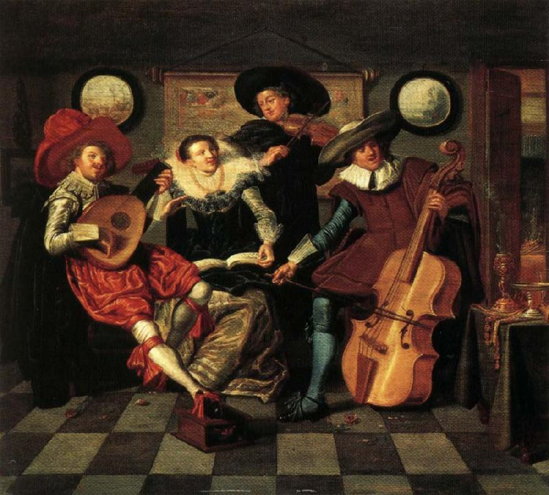Dirck Hals The Merry Company oil painting image