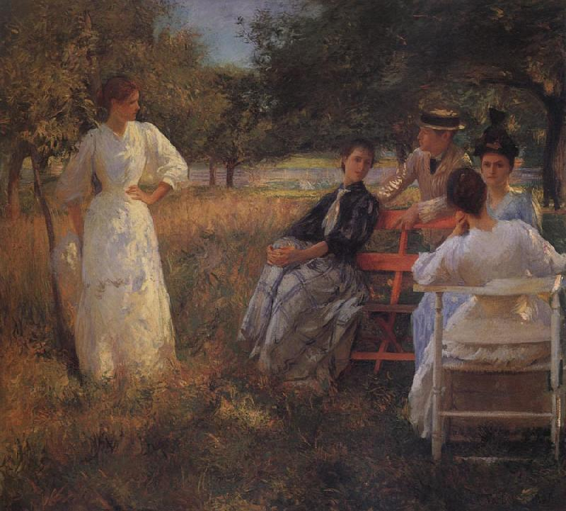 Edmund Charles Tarbell In the Orchard