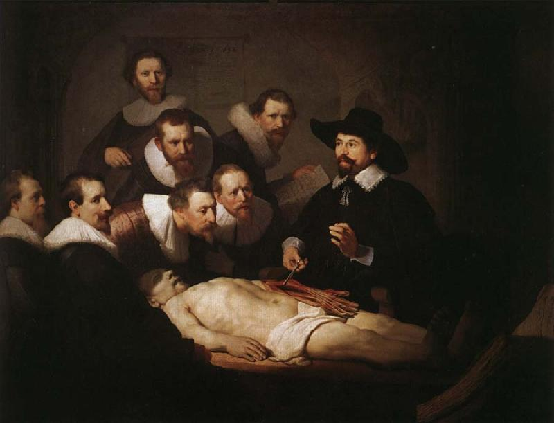 Rembrandt van rijn The Anatomy Lesson of Dr.Nicolaes Tulp oil painting image
