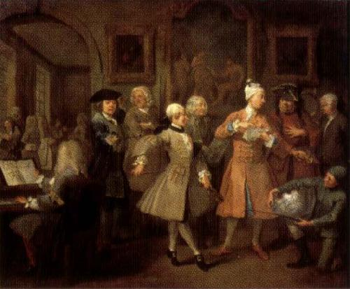 William Hogarth A Rake's Progress II The Rake's Levee oil painting image