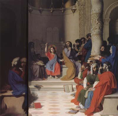 Jean Auguste Dominique Ingres Jesus among the Scribes (mk04) oil painting image