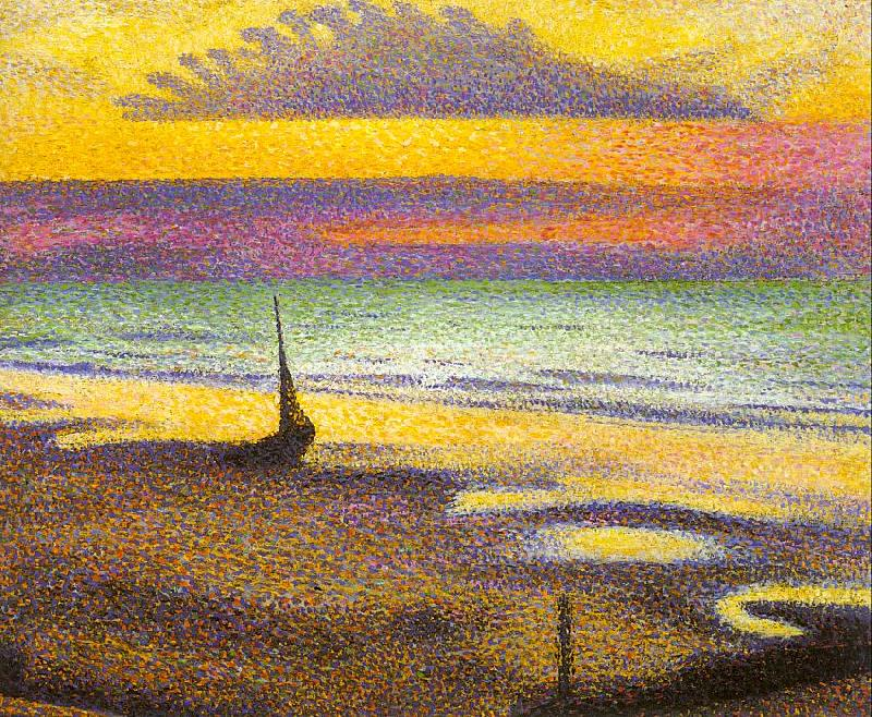 Lemmen, Georges Beach at Heist oil painting image