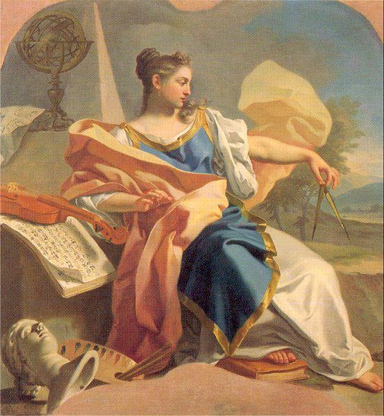 Mura, Francesco de Allegory of the Arts oil painting image
