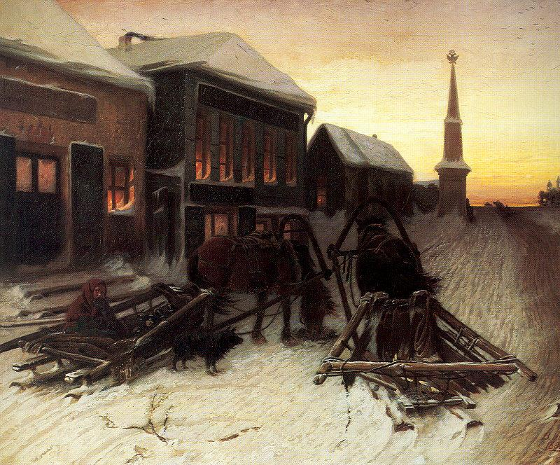 Perov, Vasily The Last Tavern at the City Gates