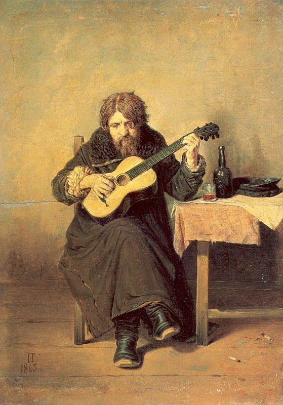 Perov, Vasily The Bachelor Guitarist