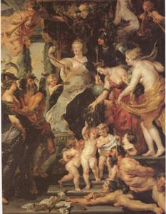 Peter Paul Rubens The Happiness of the Regency (mk05) oil painting image