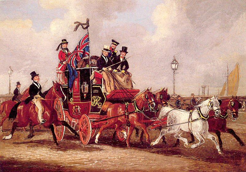 Pollard, James The Last Mail Leaving Newcastle, July 5, 1847 oil painting image