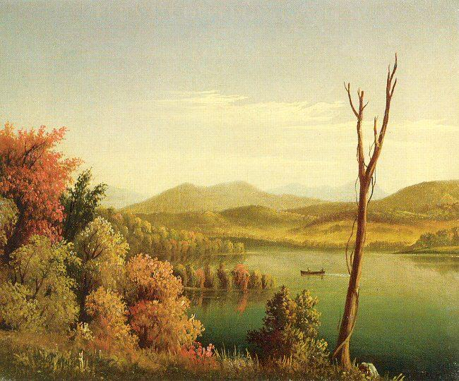 Prentice, Levi Wells Andirondack Lake oil painting image