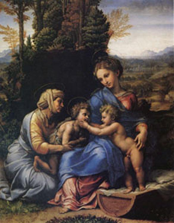 Raphael The Holy Family Known as the Little Holy Family (mk05) oil painting image