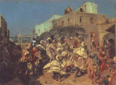 Alfred Dehodencq Blacks Dancing in Tangiers (san26)