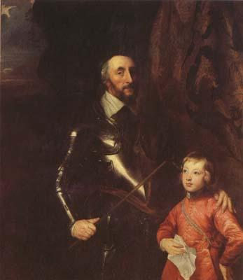 Anthony Van Dyck The Count of Arundel and his son Thonmas (mk08) oil painting image