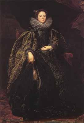 Anthony Van Dyck Portrait of an unknown genoese lady (mk03)