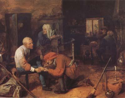 BROUWER, Adriaen The Operation (mk08) oil painting image