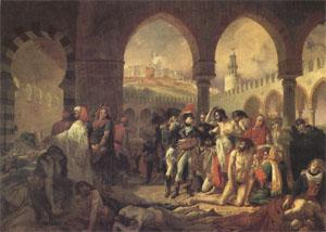 Baron Antoine-Jean Gros Bonaparte Visiting the Plague-Stricken at Jaffa on 11 March (mk05) oil painting image