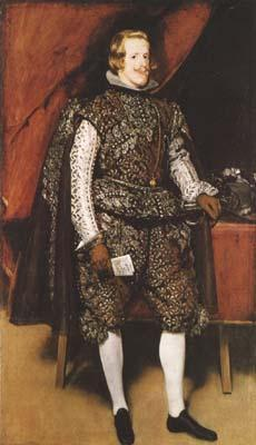 Diego Velazquez Portrait of Philip IV of Spain in Brown and Silver (mk08) oil painting image
